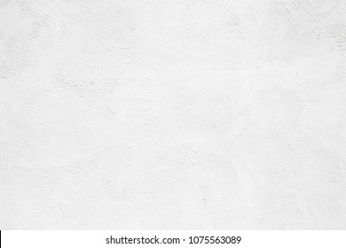 Empty white concrete wall, clean white texture background surface.