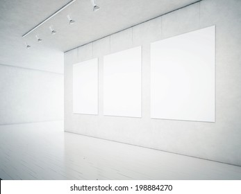 empty white gallery interior