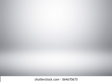Empty white gradient Studio wall abstract background