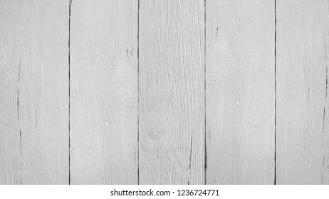 Empty white, light wood surface background texture. Old grunge wood plank