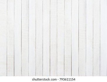 Empty White painted wooden texture background