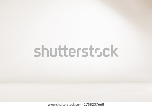 Empty white room. Seamless white photography backdrop. Infinity curve, cyc wall, cyclorama.