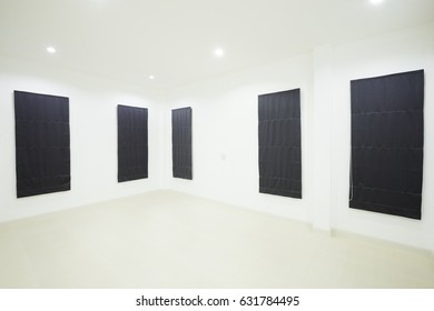 empty white room with window in home