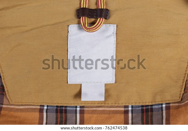 Empty White Textile Label Blank Size Tag