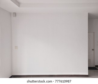empty white wall room