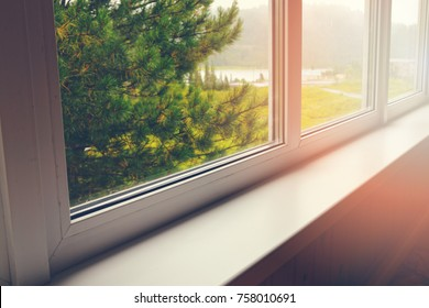 empty window sill