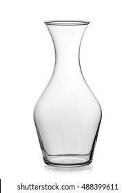 Empty wine decanter