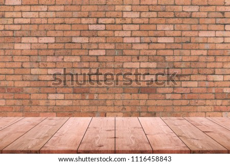 table top background christmas empty wood table top and background of old brick wall can used for display or wood table top background old stock photo edit now