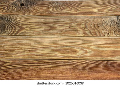 Empty wooden background, countertop in the kitchen, top view, copyspace.