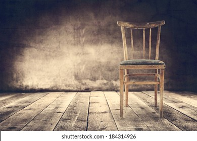empty wooden chair