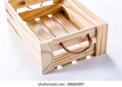 Empty wooden crate. on isolated background.