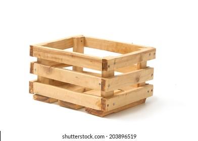 Empty wooden fruit crate