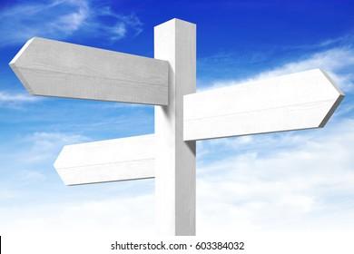 Empty wooden signpost