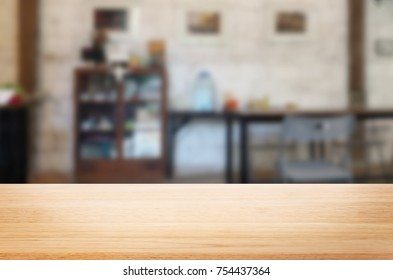 Empty wooden table and room interior decoration background, product montage display, window background.