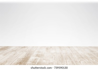 Empty woodendesk. As stage template to your showcase.