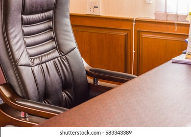 Empty workplace in office, Office for boss