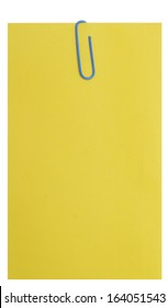 empty yellow blank isolated over white