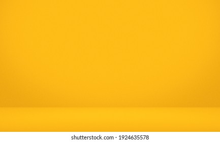 Empty yellow color texture pattern cement wall studio background. Used for presentation summer holiday products for sale online. - Shutterstock ID 1924635578