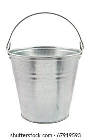 The empty zinced bucket
