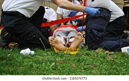 EMT Students Handling an Emergency