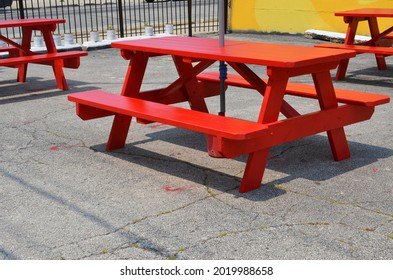 A emtpy table chair restaurant outdoor
