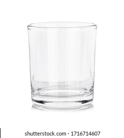 emty glass isolated on white background