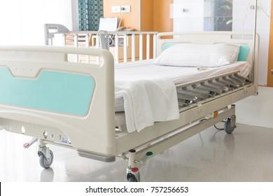 Emty hospital bed.