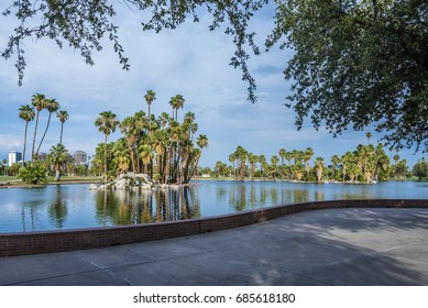 Encanto Park in Phoenix, Arizona. Forbes Magazine named it as one of the ten best city parks in America.