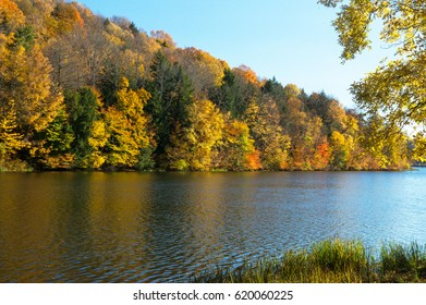 Enchanted Autumn Lake at Lackawannna State Park in Pennsylvania