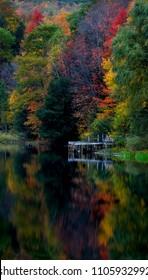 Enchanted pond at dusk
