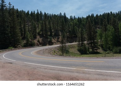 The Enchanted scenic Byway in New Mexico travels through much of the Carson National Forest.