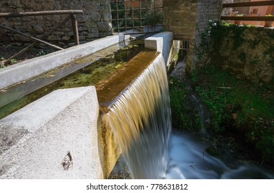 Enchanted village where the streams of water flow between the houses. Rasiglia, Umbria in the province of Perugia.
