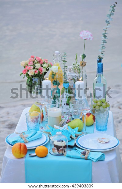 Enchanted Wedding Decorations Tropical Style Seashells Stock