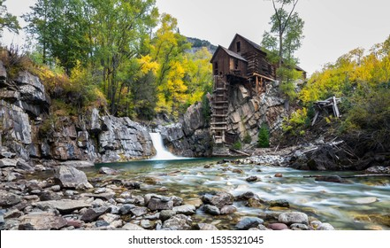 The Enchanting Crystal Mill during fall in Colorado