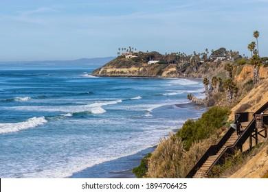Encinitas, California USA - January 14th 2021 : Beautiful winter day in Encinitas CA