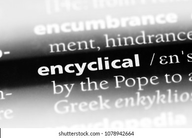 encyclical word in a dictionary. encyclical concept