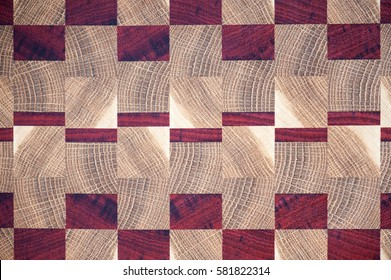 End grain cutting board pattern example