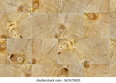 end grain wood block background pattern. natural wooden texture