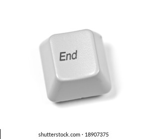 end key over white background