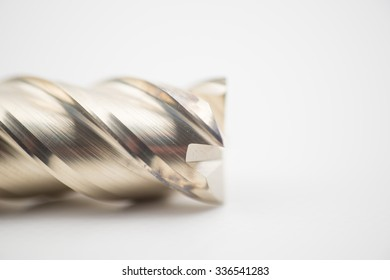 End mill cutter, isolated on white background