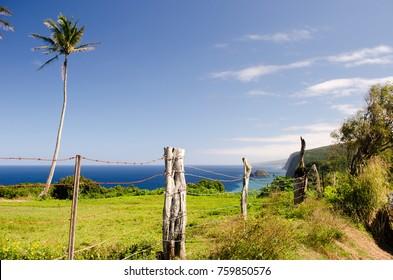 End of the road Hawi, Hawaii Big Island over looking Pololu Valley