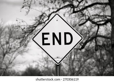 End Sign board