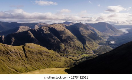 End of Skyfall, Mountains and valley next to Glencoe in Scotland, UK