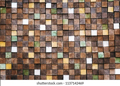 The end of the tree. Background of Many boards. boards and planks. end wood grain background. texture of the wall from the ends