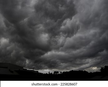 End of the world view of an apocalyptic gigantic storm.(Armageddon)