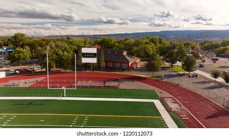 End Zone Of Municipal Football Field