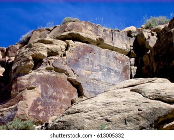 Endangered petroglyphs at Nine Mile Canyon, Utah
