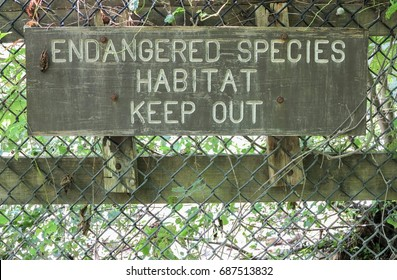 Endangered species habitat keep out sign