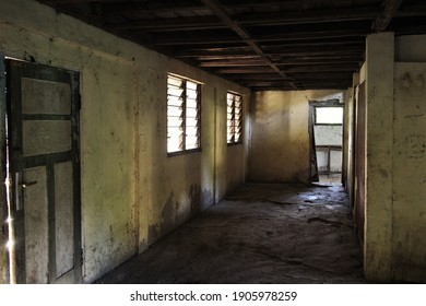 Ende, East Nusa Tenggara, Indonesia - January 2016 : The messiness of a room ftom an abandoned house
