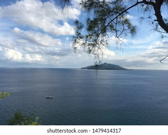 Ende Island view from the hill of love. At Ende, Flores Island, East Nusa Temggara, Indonesia